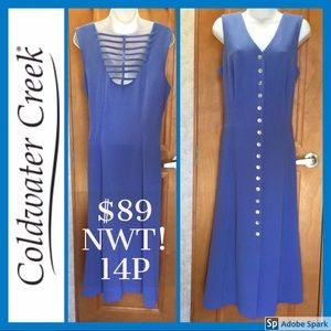 NWT! $89 💙 Gorgeous Coldwater Creek Maxi Blue